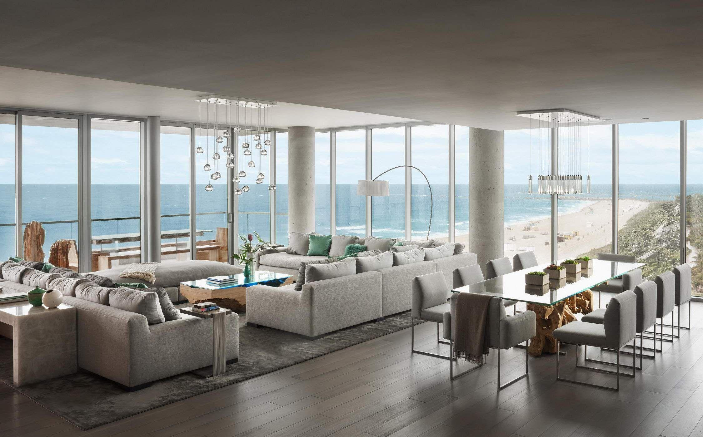 Un ático De Lujo Con Vistas Al Océano En Miami