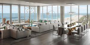 Ático con vistas al océano en Miami
