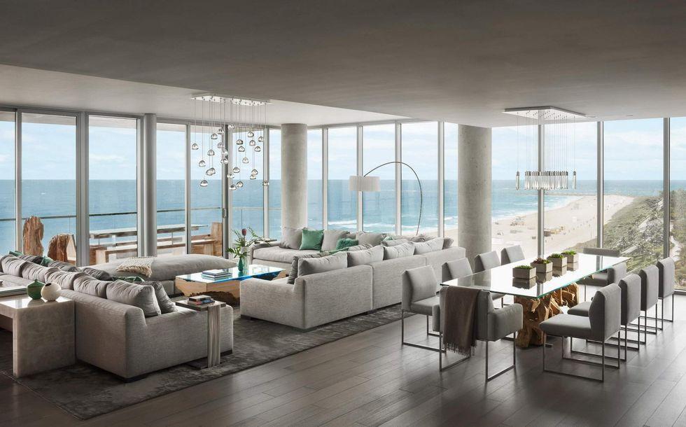 Un ático con la playa de Miami a sus pies