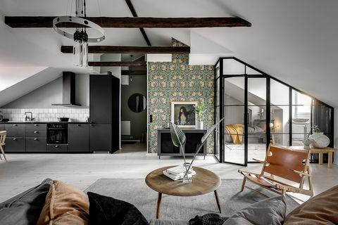 Ático estilo loft en Estocolmo