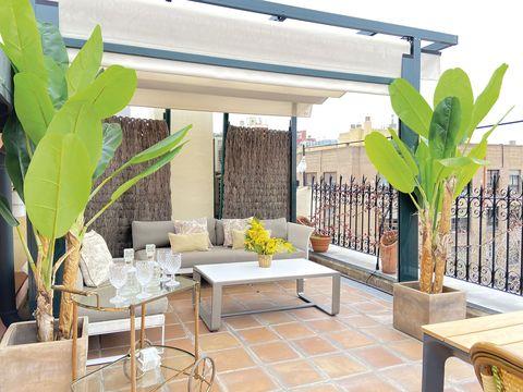 Ático en madrid con terraza salón exterior
