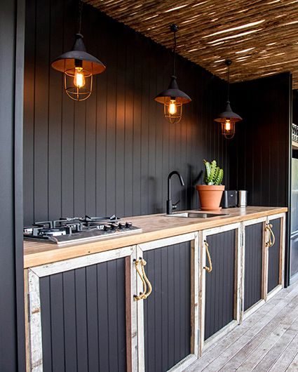 Image Courtesy Of The Atlantic Black Outdoor Kitchen