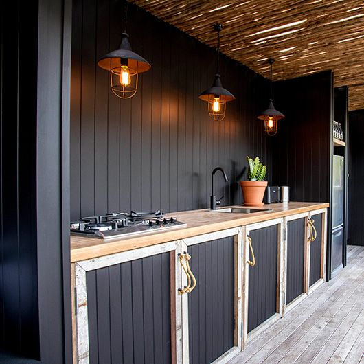 Good Image. Courtesy Of The Atlantic. Black Outdoor Kitchen