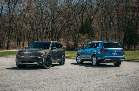 2020 Kia Telluride Vs 2019 Volkswagen Atlas Three Row Suv
