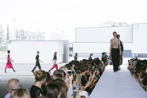 Runway, Fashion, Fashion show, Fashion design, Event, Design, Spring, Fur, Architecture, Haute couture,