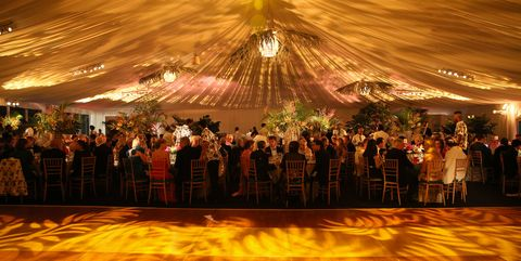 Crowd, Ballroom, Event, Yellow, Function hall, Fun, Dance, Party, Stage, Ceremony,