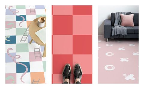 This vinyl flooring collection reimagines classic childhood games ...
