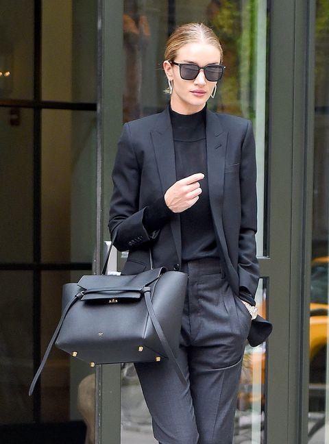 Street fashion, Clothing, Suit, Blazer, Fashion, Pantsuit, Outerwear, White-collar worker, Formal wear, Standing,