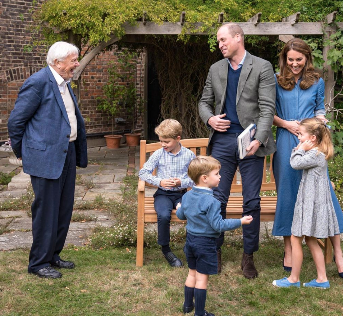 Kate Middleton Shares Photos of Prince George, Princess Charlotte, and Prince Louis with David Attenborough