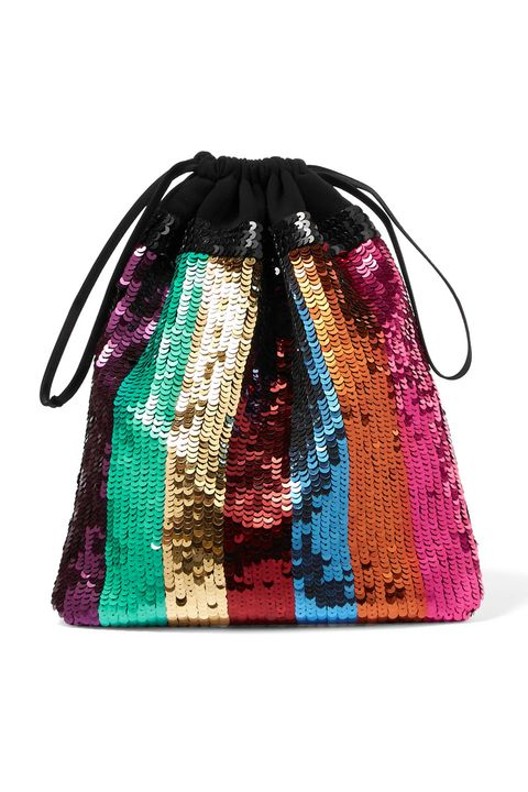 Bag, Handbag, Turquoise, Green, Violet, Fashion accessory, Magenta, Glitter, Hobo bag, Textile,