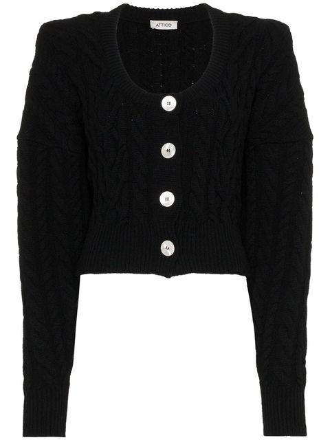 Clothing, Outerwear, Black, Sweater, Cardigan, Sleeve, Button, Woolen, Wool, Jacket,