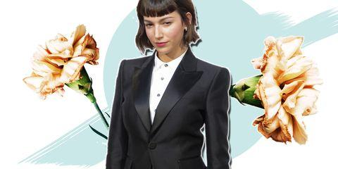 Formal wear, Suit, Dish, Tuxedo, Cuisine, Food, Side dish,