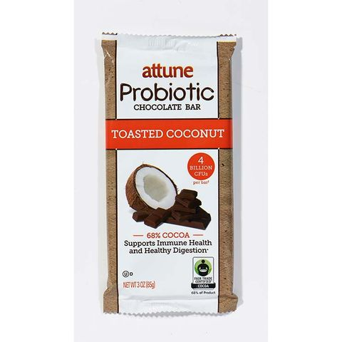Attune Toasted Coconut Probiotic Chocolate Bar