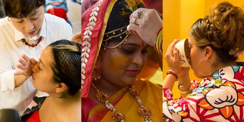 Tradition, Event, Ritual, Fun, Headgear, Ceremony, Fashion accessory, Child, Temple, Headpiece,