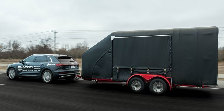 Audi Shows How Towing Affects an EV's Range—and It Ain't Pretty