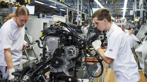 Audi engine assembly