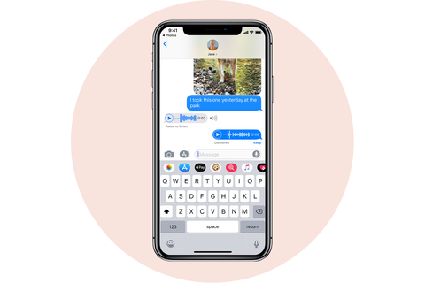 expiring audio messages apple iphone