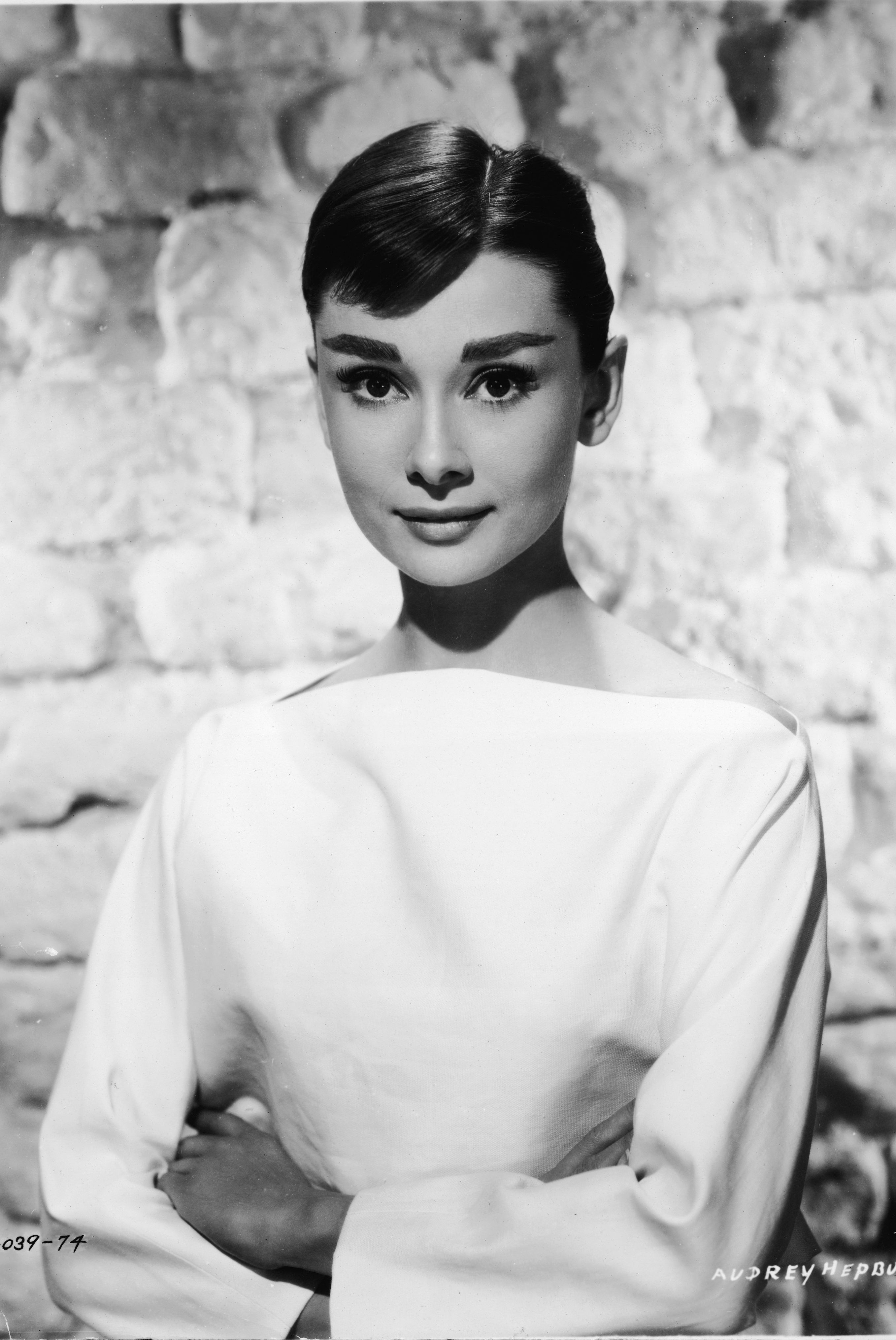 audrey hepburn white bateau neck dress