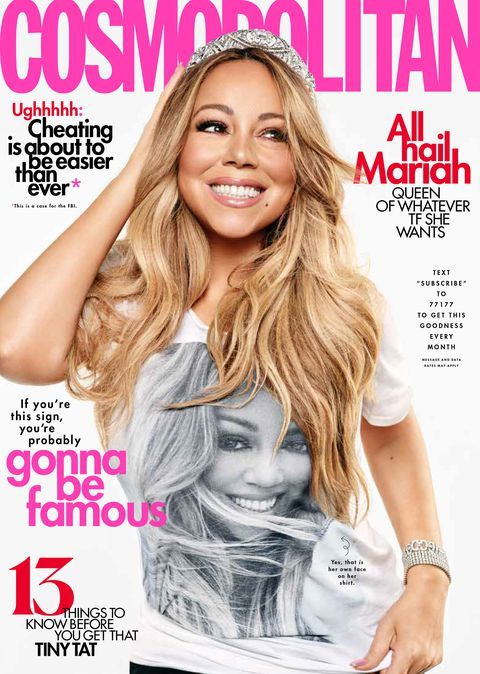 Mariah Carey's August 2019 Cosmo Cover Interview