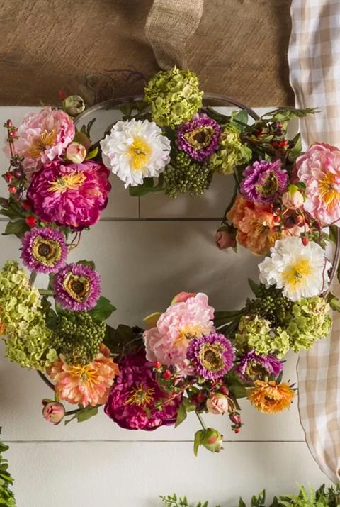 35 spring wreaths easter spring door decorations ideas august grove peony wreath mightylinksfo