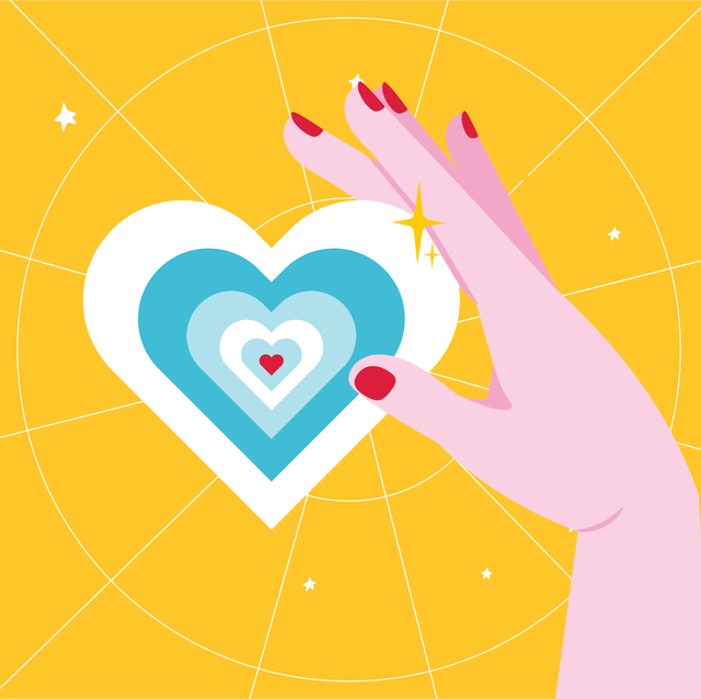 heart on a yellow background