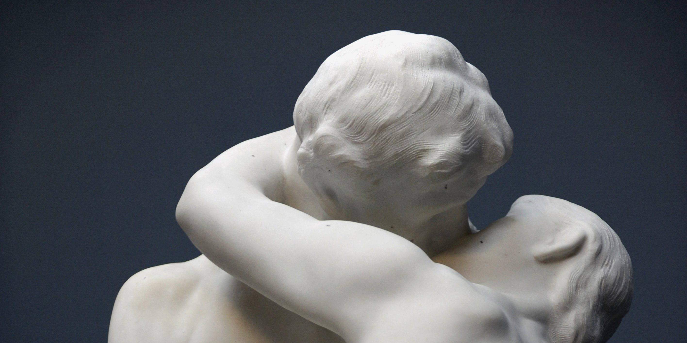 Auguste Rodin (1840-1917). The Kiss. Marble (1901-03).(C. 1884).