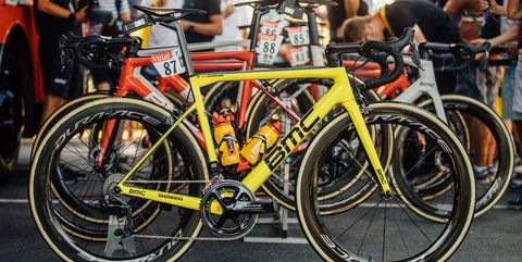 Greg Van Avermaet's Teammachine Yellow SLR01