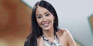 Aurah Ruiz en el plató de GH VIP