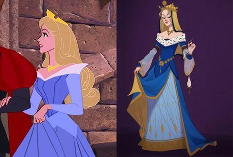 Animated cartoon, Blue, Cartoon, Fashion, Costume design, Illustration, Animation, Art, Fictional character, Costume,
