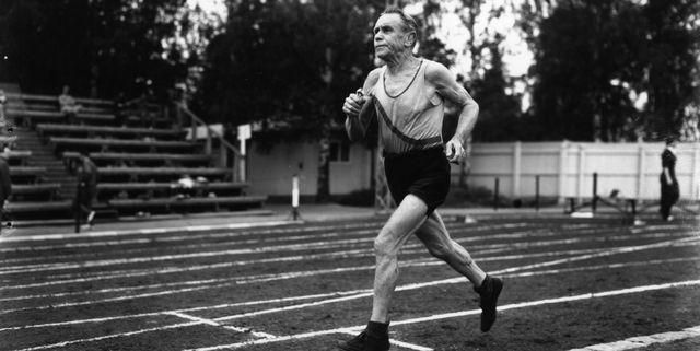 elderly runner