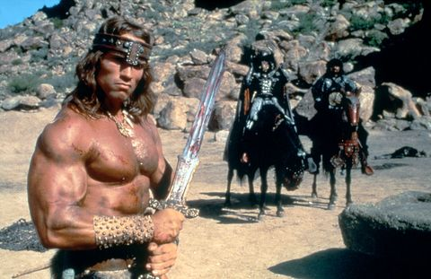 On the set of Conan the Destroyer