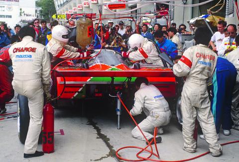 Le Mans winning Mazda 787B.