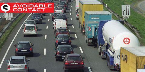Motor vehicle, Road, Traffic, Transport, Lane, Highway, Mode of transport, Thoroughfare, Freeway, Vehicle,