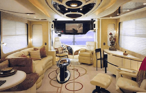 Room, Luxury yacht, Interior design, Property, Yacht, Vehicle, Building, Cabin, Furniture, Naval architecture,