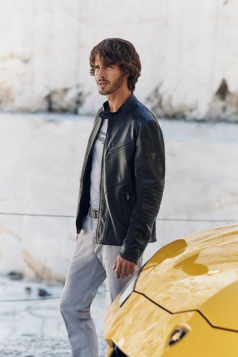 Jeans, Jacket, Street fashion, Yellow, Fashion, Denim, Leather jacket, Leather, Outerwear, Textile,