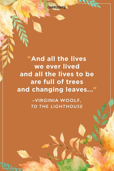 Virginia Woolf Fall Quotes
