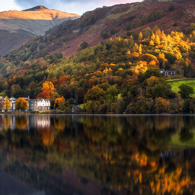 autumn, grasmere, lake district, cumbria, england