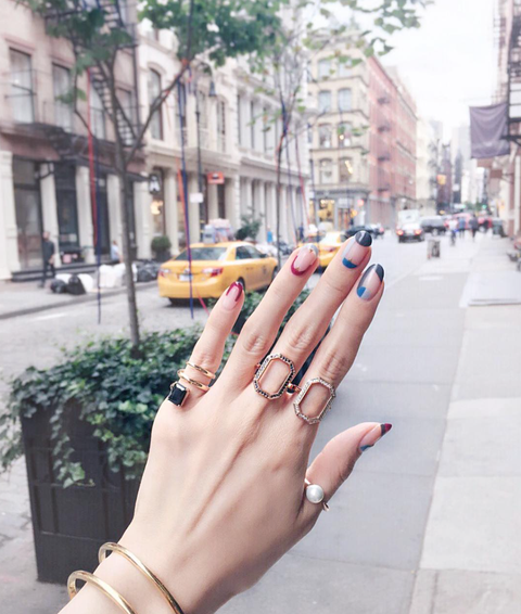 Nail, Finger, Hand, Manicure, Beauty, Nail care, Cosmetics, Ring, Street fashion, Fashion,