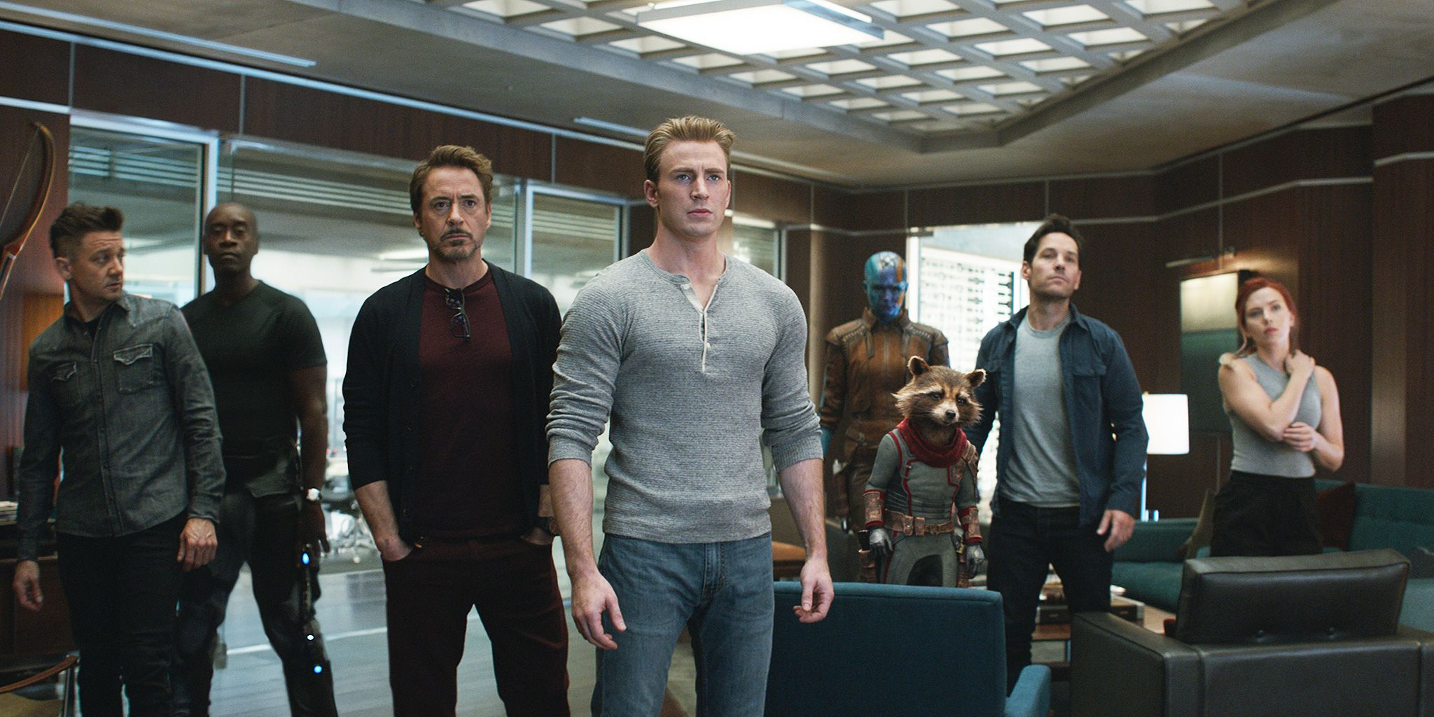 Avengers: Endgame, Jeremy Renner, Don Cheadle, Robert Downey Jr., Chris Evans, Scarlett Johansson, Karen Gillan, Paul Rudd, Bradley Cooper