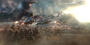 Avengers: Endgame battle scene