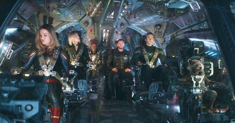 Avengers: Endgame, Rocket, Bradley Cooper, War Machine, Thor, Chris Hemsworth, Captain America, Chris Evans, Black Widow, Scarlett Johansson, Brie Larson, Captain Marvel