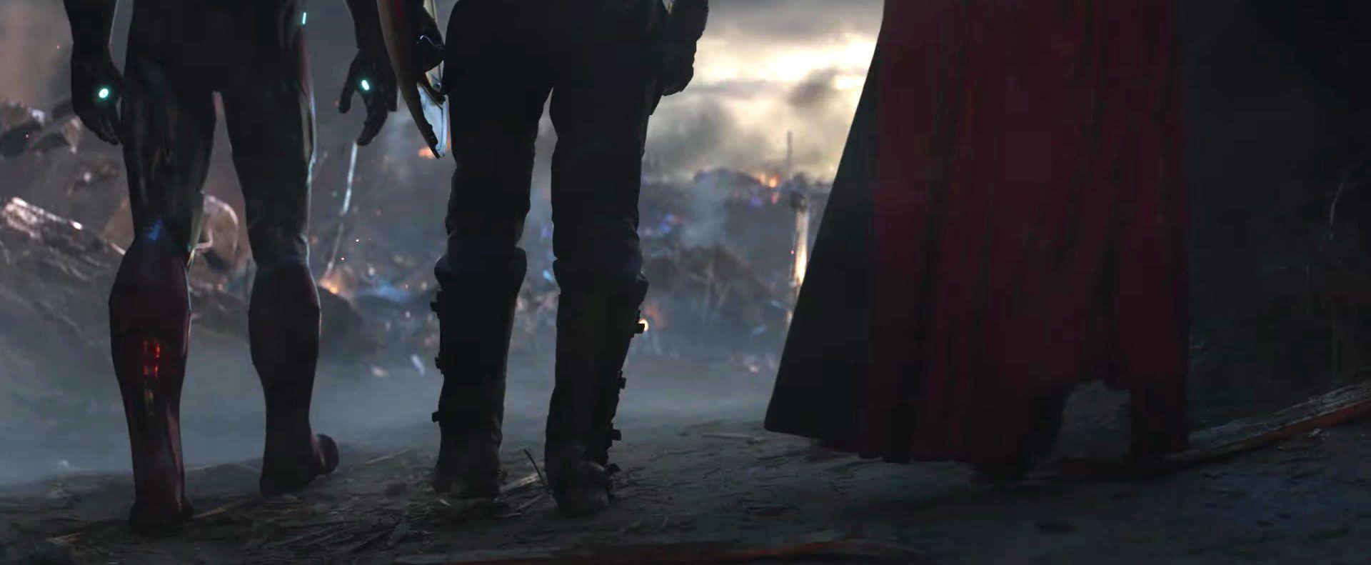 Avengers Endgame, Capitan America, Iron Man, Thor