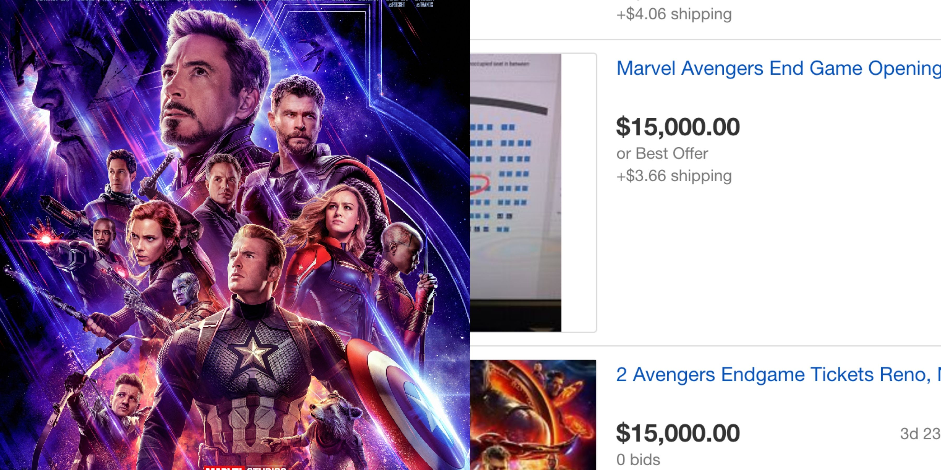 avengers endgame tickets selling for $15,000 on ebay are bullshit