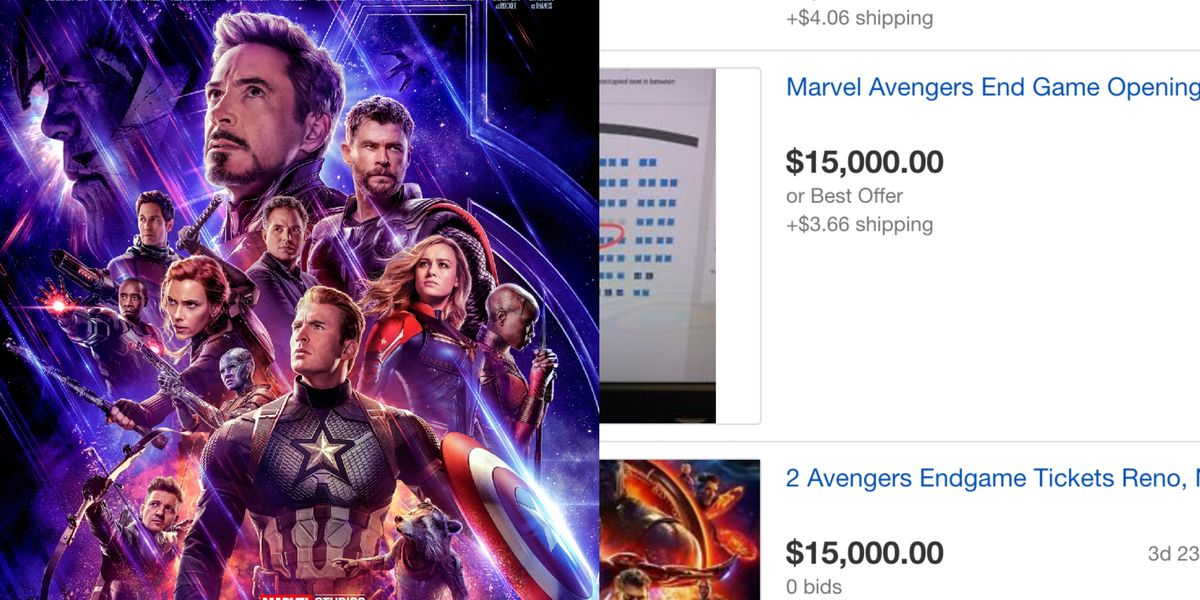 Avengers Endgame Tickets Selling For $15,000 on eBay Are ...