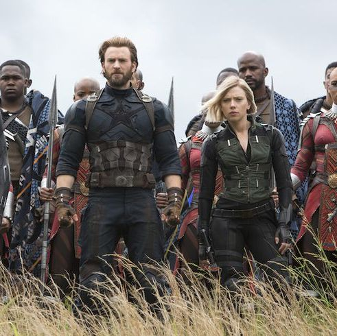 Avengers: Infinity War Every superhero you can possibly name joins forces in this action-packed and actor-stuffed epic, in which our Marvel heroes must prevent the deadly Thanos from destroying most of the universe's population.