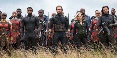 Avengers Infinity War, Black Panther, Captain America, Black Widow, final battle in Wakanda