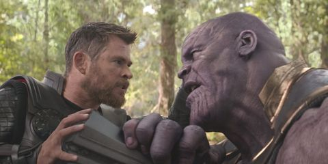 Avengers: Infinity War, Thor and Thanos fight