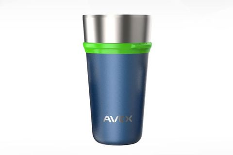 avex brew insulated pint glass