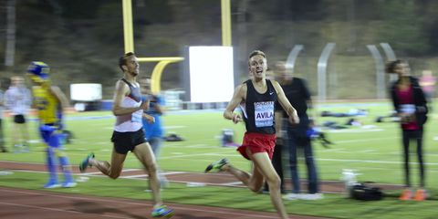 Eric Avila about to win the 2014 Jim Ryun Festival of Miles