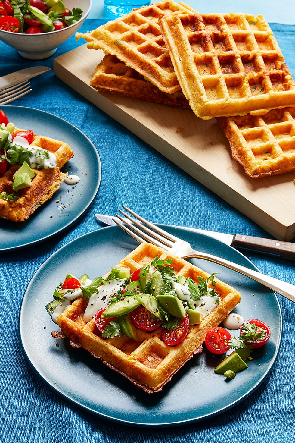 Woman's Day savory corn waffle